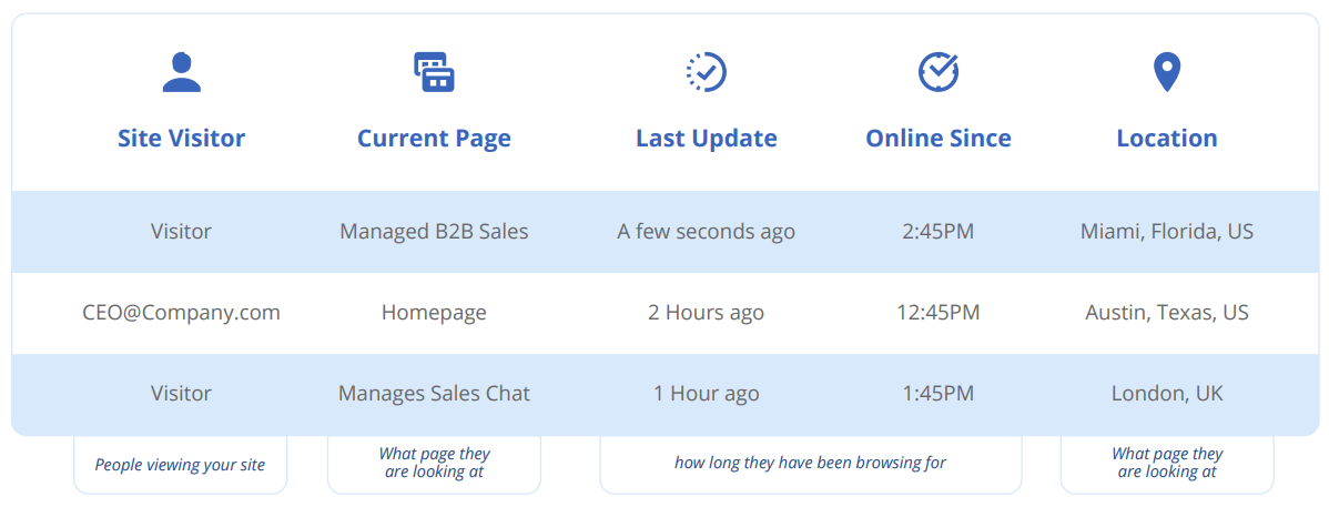 Sales Chat Live View